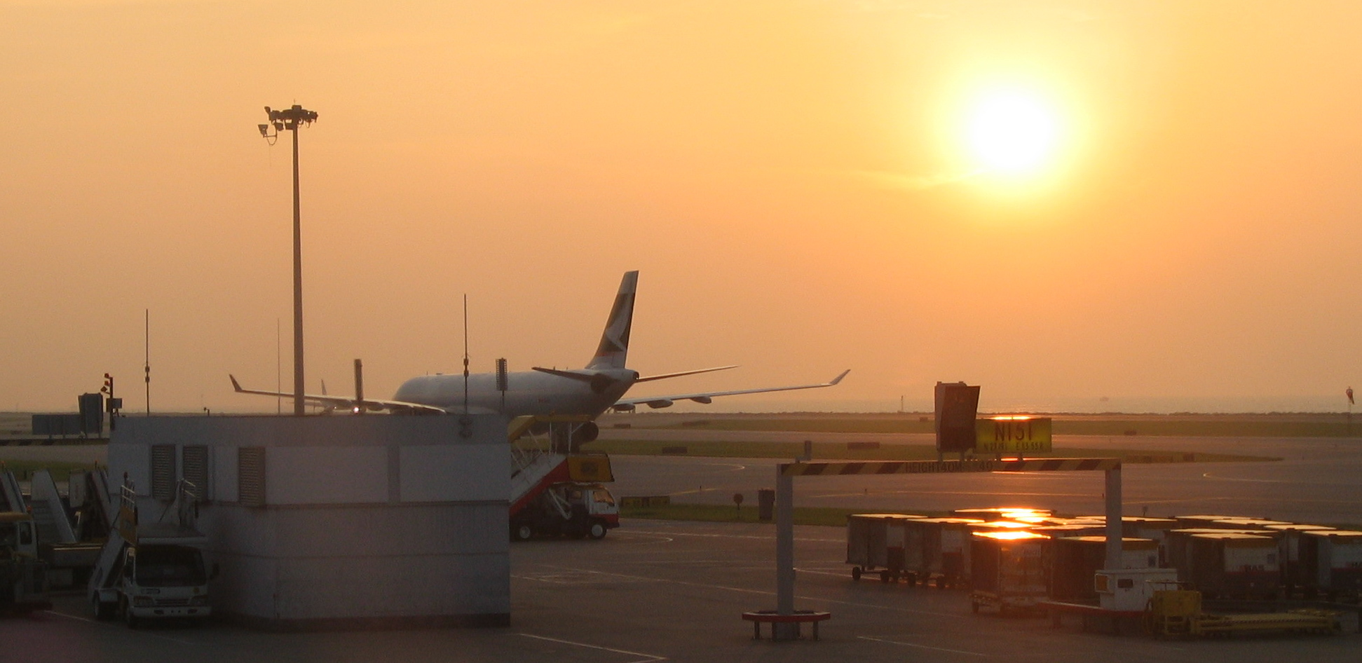 Sunset at HKG