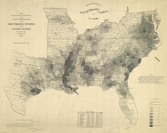 Map of Slavery in the US